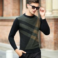 893 new arrival Autumn and winter  men's sweater geometric pattern thickening pure wool sweater all-match shirt sizeS M L XL XXL