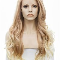 """Imstyle Wavy Synthetic Two Tone Ombre color 26"""" lace front wig"""