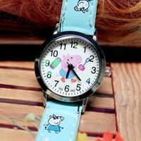KINGGIRL 10 Pieces/Lot Cartoon Leather Watches For Quartz