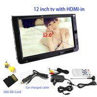 LEADSTAR Portable High Resolution 12 Inch DVB-T-T2 Digital Analog Support USB TF Card