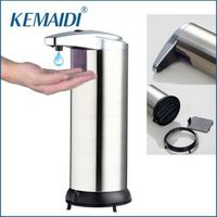 KEMAIDI Modern Automatic Sensor Soap Dispenser Stainless Steel Hands Touch Sanitizer