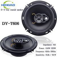 HoXiao 6 inches 2 way car coaxial horns T606 Special modified stereo speakers