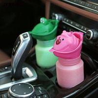 JETTING 1PCS Pink Green Color Kid Unisex Potty Training Pee Camping Potties Portable Toilet Urinal Car Travel Toilet