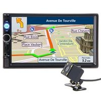 HIEI 2 din Car Radio GPS Navigation Player 7 HD Touch Screen Bluetooth MP3