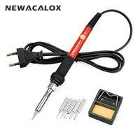 NEWACALOX 220V/110V 60W Electrical Soldering Iron Rework Welding Gun Tool