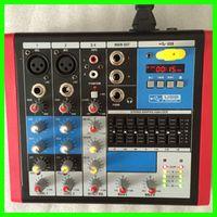 MLLSE Mini Audio Mixer RMV4 Small Mixing Console 4 Channel