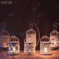 1PC White Hollow Holder Candlestick Tealight Hanging