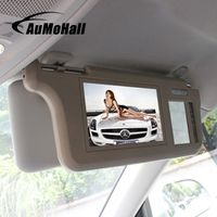 AuMoHall 7-inch TFT LCD Car Sun Visor Monitors Display Two-Way Video Input Reversing