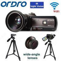 "ORDRO HDV-D395 Full HD 1080P 18X 3.0""Touch Digital Camera Portable Video Camcorder IR"