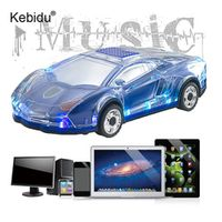 kebidu Bluetooth Styling Model LED Flash Car Wireless Speakers TF Card FM Radio Music