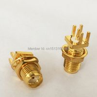 1pc SMA Female Jack nut RF Coax Modem Convertor Connector end launch PCB  mount Straight  Goldplated  NEW  wholesale