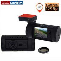 Conkim Car DVR Mini 0826 Ambarella A7 Super HD 1296P 1080P HDR Auto Dash Camera GPS
