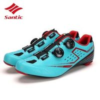 Santic Cycling Shoes Men 2018 Carbon Fiber Road Bike Shoes Self-Locking Bicycle Shoe