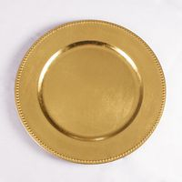 peneede 4 Pcs Classic Service Dinner Gold Silver Charger