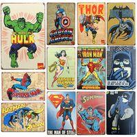 inFour+ SuperHero Batman Chic Bar Signs Home Decor Metal