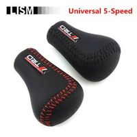 LISM TRD Universal PU Leather Gear Shift Knob Gearshift Shifter Stick Lever Headball