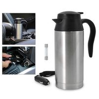 easyway 12V 750ML Stainless Steel Auto Adapter Travel Mug Thermos Heating Kettle Car
