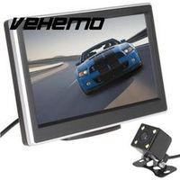 Vehemo 5 Inch LCD Screen Display Car Vehicles DVD VCR Rearview Cameras Reverse