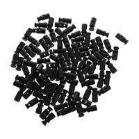 100pcs Black Cylinder Barrel Cordlock Cord Lock Toggles Stopper