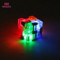 MUQGEW Multicolor Mini Fidget Cube LED Infinity