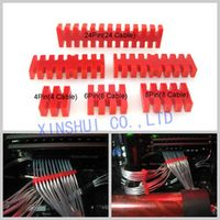 Wiring Ducts red acrylic special silver plated module line line riboon cable slip CABLE COMBS for 24in ATX connector