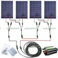 ECO-WORTHY COMPLETE KIT 400W 400Watts Photovoltaic Solar Panel 24V System RV Boat