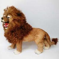 large 50x34cm artificial plastic furs lion model handicraft