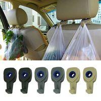 MOONBIFFY 2Pcs Car Interior Accessories Portable Auto Seat Hanger Purse Bag Organizer