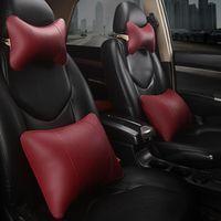 KKYSYELVA Leather Headrest Neck Pillows Lumbar for Office Chair Waist Back Support
