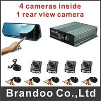 BRANDOO TEAM 5 cameras CAR DVR kit used for private taxi driving school cars inside