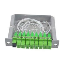ZHWCOMM SC APC PLC Fiber Optical FTTH PLC Splitter box with 1X8 Planar waveguide type