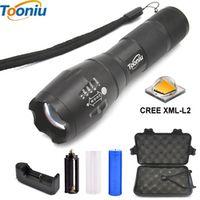 Tooniu LED flashlight Tactical Flashlight 8000 Lumens CREE XM-L2 Zoomable 5 Modes