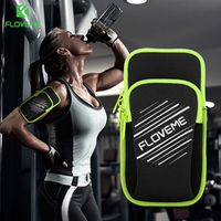 FLOVEME Universal Cloth Sport Armband for iPhone 6 6s Plus 7 7 Plus Samsung S8 S8 Plus S7 Xiaomi Phone Armband Running Bag Case