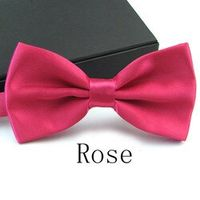12 Colors Solid Fashions Men's Bowties Tuxedo Classic Adjustable Bowtie Wedding Party WJB0001