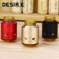100% Original Desire Rabies RDA Tank Rebuildable Dripping Atomizer Bottom Side Airflow with Large Build Deck e-Cigarette Tank