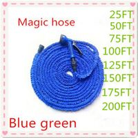 Magic flexible Expandable Hose reels Blue Green 25FT-200FT