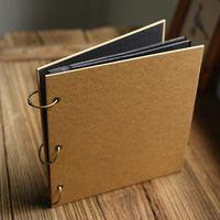 Square Blank  Kraft Loose-leaf Album Film Adhesive Creative Diy Manual Paste-type Album Retro Decorations Versieringen Fotoalbum