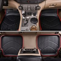 Car-pass Universal Car Floor Mats For Anti-Slip Red Black Floot Car Styling Interior
