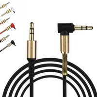 RV77 2018 Gold Plating 3.5mm Male Car Aux Auxiliary Cord Jack Stereo Audio Cable