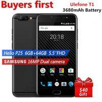 "Ulefone T1 16MP Dual Rear Cam Mobile Phone 5.5"" Helio P25 Octa Core 6GB RAM 64GB ROM"