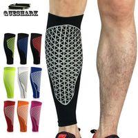 XINTOWN 2Pcs Compression Running Calf Sleeve Football Shin Guard Cycling Leg Warmers
