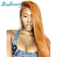 Rosabeauty 360 Lace Frontal Wigs Brazilian Straight 100% Human Remy Hair Wig For Black Women Pre Plucked Hairline with Baby hair