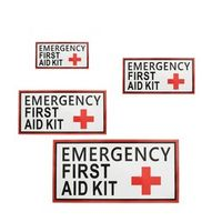 NEW Safurance Outdoor 4 Size First aid Emergency Vinyl Sticker Waterproof Label Signs Red Cross Health sticker