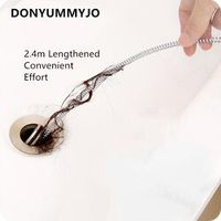 DONYUMMYJO Hair Drain Clog Remover 2.4m Long Unblocker Relief Tool for Drain Cleaning