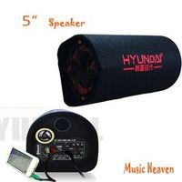 I KEY BUY portable 5 inch 12v 220v car audio active booster tube KTV boom box stage