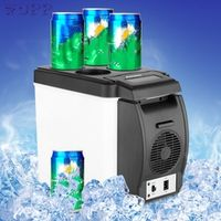 rundong 12V 6L Car Mini Fridge Portable Thermoelectric Cooler Warmer Travel