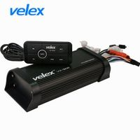 Velex Waterproof Marine Bluetooth Amplifier with USB AUX Audio Streaming Music Smart