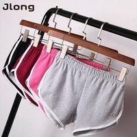 Jlong Summer Street Shorts Elastic Waist Women Loose Cotton
