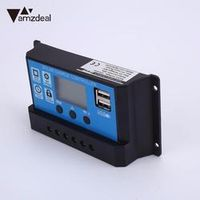 Amzdeal Professional 30A 12/24V USB LCD PWM Solar Panel System Battery Regulator