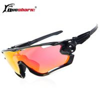 Queshark Tour De France Polarized Cycling Sunglasses Cycling Glasses Bicycle 3 Pair